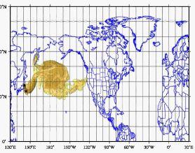 Le  nuage radioactif devrait arriver le 23 ou le 24 mars visionnez le nuage en mouvement| #vidéo