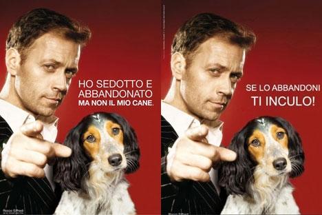 """Si tu abandonnes ton chien Rocco Siffredi """"Ti inculo"""""""