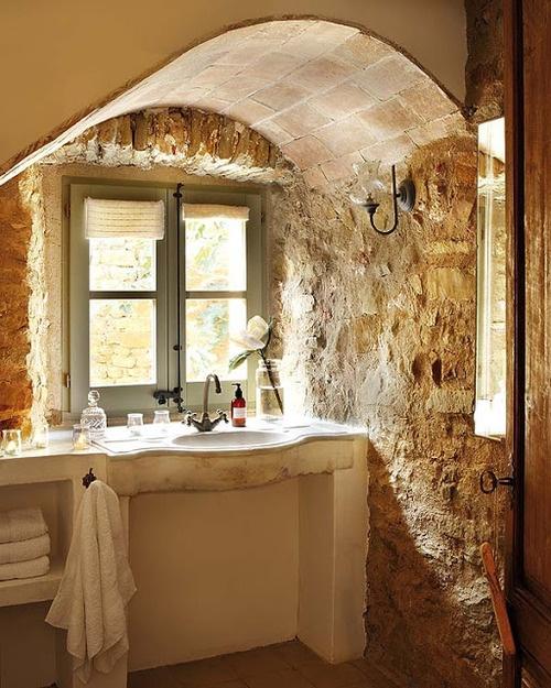 Immobilier des idées déco les salles de bains et la pierre
