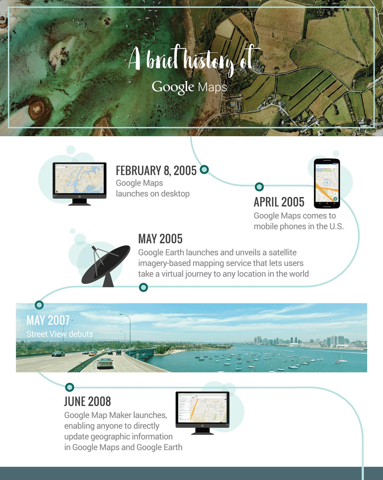 Google Maps 10 ans déjà en infographie